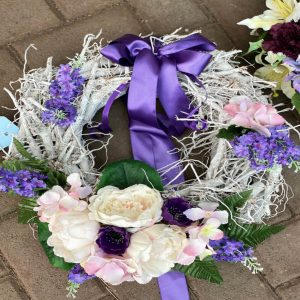door wreath from forever flowers drogheda
