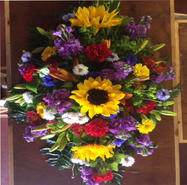 sympathy spray from forever flowers drogheda