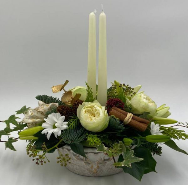 classic table centre from forever flowers drogheda
