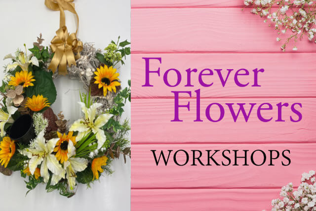 forever flowers make your own door wreath